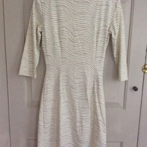 JMcLaughlin Wave dress in beige and cream